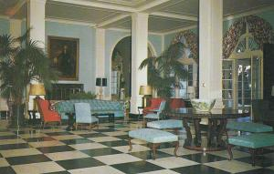 WHITE SULPHUR SPRINGS, West Virginia, 40-60s; Main Lobby, Greenbrier