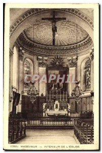 Old Postcard Masevaux Interior of the Church
