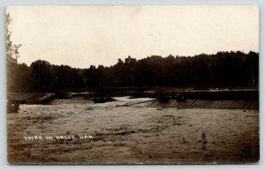 Dewitt Iowa~Louie is Out Here Again~Break in Hall's Dam~1909 Will Blocker RPPC