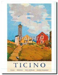Postcard Modern Ticino Southern Switzerland