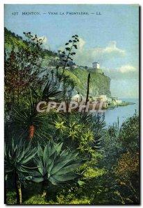 Old Postcard Menton To The Border