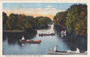 Rhode Island Pawtucket Canoeing On The Pawtucket River 1925