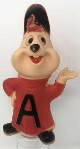 Vintage 1970s Alvin Chipmunk Vinyl Toy 7 Letter A Red Sweater