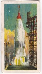 Trade Cards Brooke Bond Tea Transport Through The Ages No 50 Space Rocket