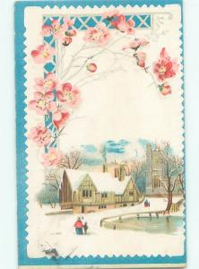 Divided-Back GREAT SCENE Greeting Postcard AA7165