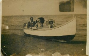 Romania Constanta 1930 photo postcard boat