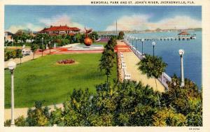 FL - Jacksonville. Memorial Park and St Johns River