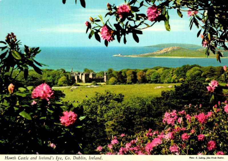 Ireland County Dublin Howth Castle and Ireland's Eye