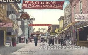 Bowery, Coney Island, New York, NY, USA Coney Island Amusement Park Postcard ...