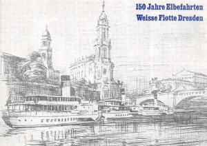 Weisse Flotte Dresden 150 Jahre Elbefahrten Schiff Bruecke