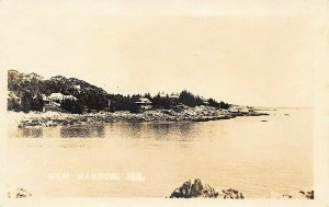 New Harbor ME Rocky Point Real Photo Postcard