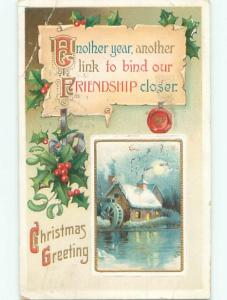 Divided-Back CHRISTMAS SCENE Great Postcard AA0023