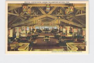 VINTAGE POSTCARD NATIONAL STATE PARK YELLOWSTONE CANYON HOTEL LOBBY #5
