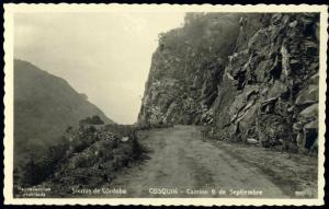 argentina, CORDOBA COSQUIN, Camino 6 Septiembre (1940) RPPC