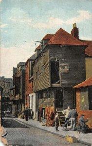 Folkestone FIshmarket Street Postcard