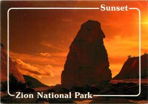 Zion National Park Utah Sunset Postcard