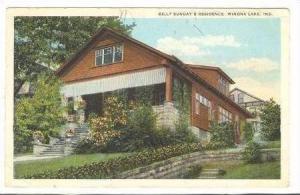 Billy Sunday's Residence, Winona Lake, Indiana, 1923 PU