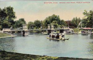 BOSTON, Bridge and Pond, Public Garden, Massachusetts, 00-10s