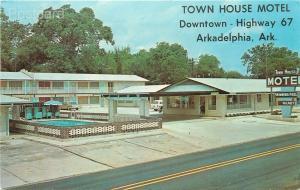 AR, Arkadelphia, Arkansas, Town House Motel, Dexter Press No. 81000-B