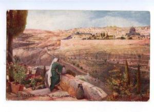 173198 JERUSALEM front the Mount Olives Vintage TUCK postcard