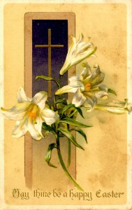 Greeting - Easter. (Winsch)    stained