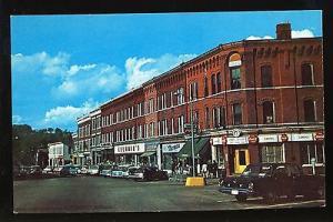 Randolph, Vermont/VT Postcard, Main Street, Belmain's, Old Cars