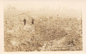 LP93  Pleasant Prairie Wisconsin Postcard RPPC Powder Explosion Big Hole