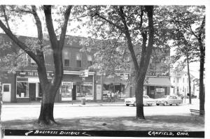 Canfield Ohio Business District Real Photo Antique Postcard K107390