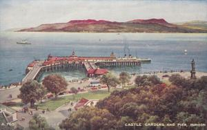 DUNOON, Scotland, 1900-1910´s; Castle Gardens And Pier