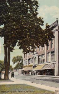 Massachusetts Amesbury Wilman Block Street Scene