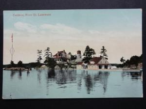 USA New York / Ontario ZAVIKON ISLAND on the St. Lawrence River Old Postcard
