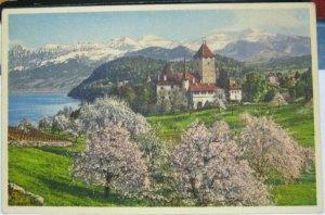 Switzerland Spiez Schloss mit Thunersee - unposted