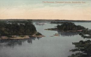 THOUSAND ISLANDS, Ontario, Canada, 1900-1910´s; The Narrows, Brockville, Ship