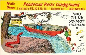Kissimmee FL Comic Snake~Ponderosa Campground~Bottomless Falls~Plumber 1950