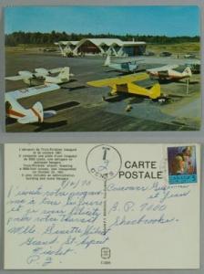 aéroport de Trois Rivières airport   postage due 1970