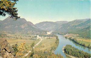 View of Little Fort British Columbia BC Chrome Postcard