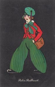 Robin Redbreast Suffragette Trousers Fashion Glamour WW2 Postcard