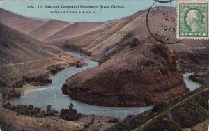 Ox Bow And Canyon Of Deschutes River Oregon 1913