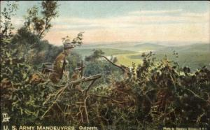 TUCK US Army Manoeuvers Outposts c1910 Postcard rpx
