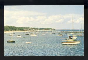 Martha's Vineyard, Massachusetts/Mass/MA Postcard, Boats In Harbor, Cape Cod