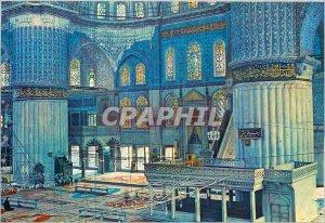 Postcard Modern Istanbul ve Saheserleri Interieure the Blue Mosque