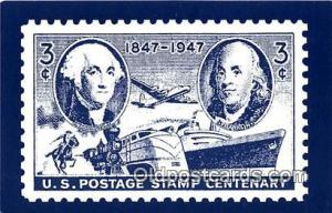US Postage Stamp Centenary 1947  Postcard Post Card  US Postage Stamp Centena...