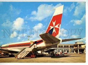 128572 MALTA Luqa Airport photo postcard