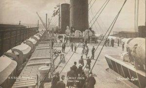 RP ; French Line Ocean Liner ILE de France, 1930s ; The Boat Deck