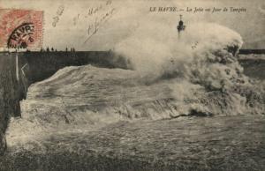 CPA  Le Havre - La Jetée n Jour de Templéte   (201162)