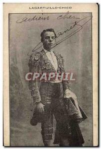 Old Postcard Bullfight Bullfight Lagartijillo Chico Matador
