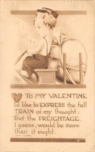 Damaged Valentines Day Postcard 1914