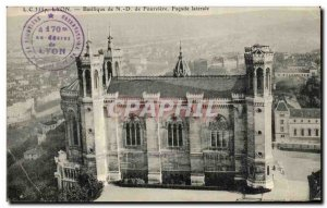 Old Postcard From Lyon Basilica Facade Lateral Fouviere