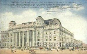 Passenger Terminal, Chicago, IL, Illinois, USA Train Railroad Station Depot 1...
