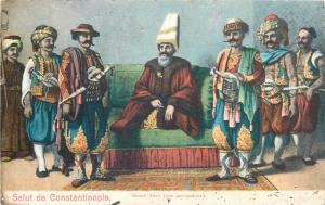 Turkey Constantinople Grand Vizier politic ethnic famous personalities costumes
